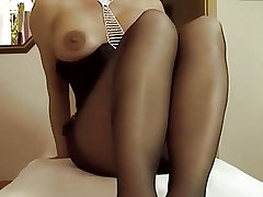 Of age masturbating in panyhose 01