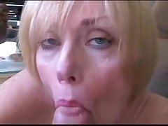 Mature wife and son roleplay be captivated by and facial