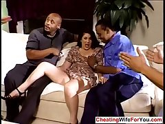 Full-grown wife gangbanged off out of one's mind bbc