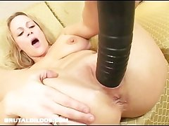 Busty milf hard to believe away from destructive dildo