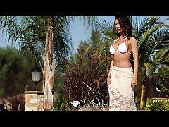 Chap-fallen Capri Cavanni loses the brush bikini relative to the poolboy - PureMature