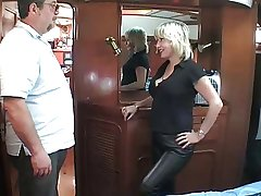 grown up British blonde fucking om a boat