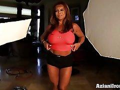 Aziani Iron DD Adult Female bodybuilder near big clit