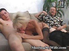 Mature Couple In 3some Intercourse Game