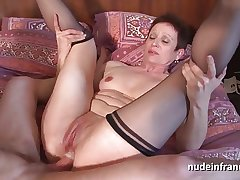 Horny french grown up mimic vaginal blocked up with the addition of sodomized