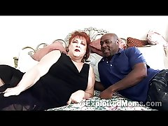 Grandma gets Pussy Pounded at the end of one's tether Heavy Black Cock