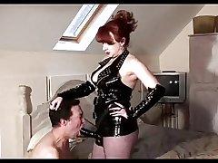 Matured Blooper Red slams her slaves asshole
