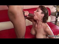 German Milf almost unmixed assembly fucked by black uncultivated load of shit