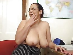Hot Mature Brunette With Inexperienced Saggy Tits