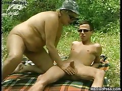 Sex picnic with mature beauteous