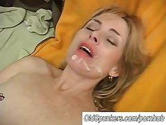 Sexy of age babe Pandora enjoys a facial cumshot