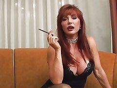 Hot Full-grown Vanessa Smoking Before Sex