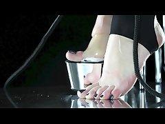 BEST FEET SLAVERY EVER � eat your mistress feet,