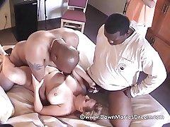 Mature Redhead MILF Dawn Marie Interracial Gangbang Part 2