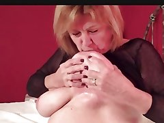 Natural Busty Grown up Martiddds: Self-suck Nipple Compilation