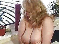 Horny german BBW mature fingered coupled with fucked